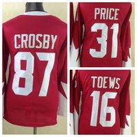 Wholesale Red Sidney Crosby Olympic Hockey Jersey New Style Carey Price Jonathan Toews Ice Hockey Jerseys High Quality Hockey Wear