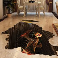Wholesale high quality D Dinosaur Creative Fashion Living Room Waterproof Floor Wallpaper Sticker Home Decor