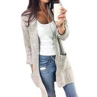 Cheap Women Women Cardigan Best V-Neck Long Sleeve Knitted Jacket Coats