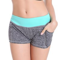 Cheap Wholesale-6Colors 2016 Women Yoga Shorts Fitness Casual Sports Short Pants Quick Drying Sports Suits For Running Jogging Sport Shorts