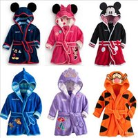 Wholesale Children s tracksuit Kids Fashion Clothes Boys and girls Bathrobes Flannel Children s pajamas Cute pajamas Clothing Children
