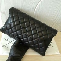 american cosmetic - original quality women lambskin clutch black lambskin luxury clutch large quilted flap cosmetic bags cm