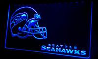 Wholesale LS418 b Seattle Seahawks Helmet Neon Light Sign