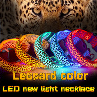 Wholesale Nylon Pet LED Dog Collar Pet Supplies Night Safety Flashing Glow Electric Collars for Dogs