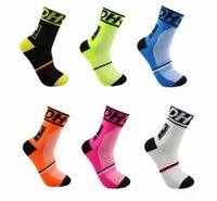 athletic sox - 6 colors New Bike Outdoor Cycling Socks Color men s and women s brand new socks Sports Sox running riding basketball fast drying socks
