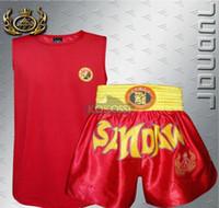 Wholesale MMA Sanda Taekwondo Muay thai Boxing shorts Training Boxing clothes High Quality