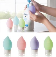 Wholesale Silicone Refillable Bottles Portable Travel Cosmetic containers ML Travel Tube Press Bottle for Lotion Shampoo Squeeze Bottles D563