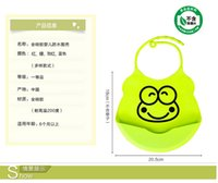 Wholesale Children eat silicone waterproof pocket baby bib baby bib saliva kids eating and round