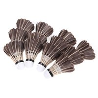 Wholesale New Arrival Black Shuttlecocks Badminton Goose Feather Cork Outdoor Sports Accessories