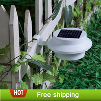 Wholesale Outdoor Solar Powered LED Cool White Warm White Light Fence Gutter Garden Yard Roof Wall Lamp