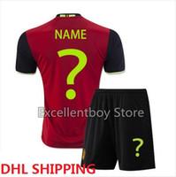 Wholesale DHL shipping euro cup Belgium Soccer jersey adult kits top quality HAZARD DE BRUYNE KOMPANY VERTONGHEN VERMARLEN LUKAKU football shirt