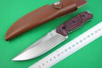 3pcs / lot cuchillo recto 58HRC 5Cr15 acero trefilado cuchillo de hoja acabado de excursión al aire libre de la caza cuchillos de hoja fija