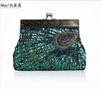 beaded bag making - High quaitly new arrival hand made beaded peacock Evening bag Clutch Purse Party Prom Wedding honestgirl09