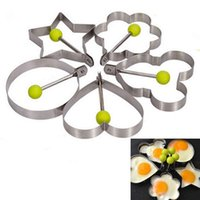 Wholesale Thickening Stainless Steel Omelette Device DIY Food Fried Egg Mold Model Love Star Eggs Mould Cake Mould Pancake Breakfast Mold