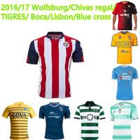 atlas blue - 2016 Mexico atlas Chivas regal Sporting Lisbon Boca juniors American TIGRES UANL HOME Underdogs Blue cross Soccer Jerseys football Shirts