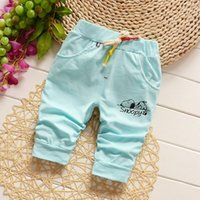Wholesale New children s clothing pants summer models cartoon printed cotton baby male and female children in the year old pants tide