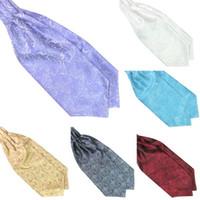 ascot scarf men - Men s Paisley Gentlemen Silk Scarves Cravat Ascot Ties Handkerchief Hot