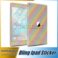 Wholesale For Ipad Mini Ultra Thin Bling Bling Coque Full Body Sticker Diamond Glitter Full Cover Sticker with Retail Package