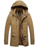 Wholesale Fall Jacket Men Coat Winter Jacket Men Parka Thermal Winter Mens Winter Coats Army Green Outwear Military Man Thick Cotton Jackets