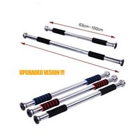 Wholesale Quality Thick Stainless Horizontal bar home Body fitness training exercise gymbar Easy door amp wall horizontal Bar New year