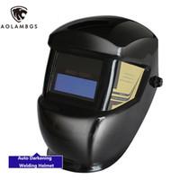 auto darkening welding helmet safety - Solar Auto Darkening Welding Helmet Welders Protective Safety Helmet TIG MIG MMA Welding Mask Solar No Batteries