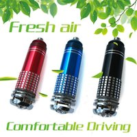 Wholesale Blue Light Ray Car Styling Air Freshener Oxygen Bar Lonizer Car Interior Decoration Car Air Freshener Remove Smoke and Clean Air