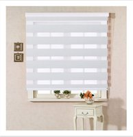Wholesale Custom Made Polyester Translucent Roller Zebra Blinds in White Window Curtains for Living Room Colors are Available