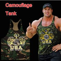 Wholesale 2016 New Gym clothing Singlets Camouflage Tank Tops Shirt Bodybuilding Equipment Fitness Men s Golds Gym Stringer