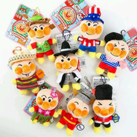 anpanman movie - NEW FREE DHL Cartoon Movie Flush dolls Anpanman kids children Lovely key chains toy Keys Rings