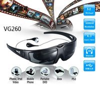 Wholesale VG260 inch Portable Wearing Wireless Video Glasses Eyewear Mobile Theatre with AV in for FPV