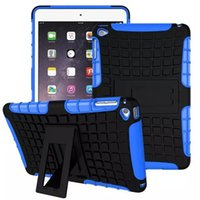armor item - Hot Selling item Heavy Duty armor stand with Protective Double Color Shock Proof Cover Case for ipad mini Pro air air2