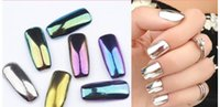 Wholesale Beauty Colorful Nail Glitter Powder Shinning Mirror Effect Nail g Makeup Powder Dust Nail Art DIY Chrome Pigment Glitters With Two Brushes