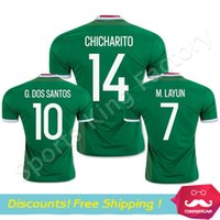 Wholesale Thai Quality Mexico Jersey green Camisa Mexico G DOS SANTOS CHICHARITO Soccer Jersey Mexico football shirts