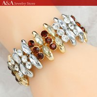 Wholesale Charm Bangles Red Crystal Bracelets Bangles For Women Graceful Jewelry Bangles Brand A A Jewelry