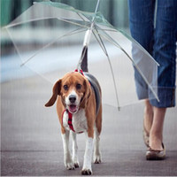 Wholesale Pet Dog Umbrella Rainy Day Pet Leash Transparent White Pet Rainy Cover Keep Pet Dry Comfortable in Rain A