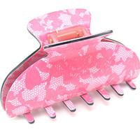 De alta calidad de la vendimia Claw pinzas de pelo Tortuga de acrílico de la longitud de la mandíbula del pelo de pelo largo pinza clip Clamp
