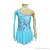 Wholesale 2016 Design Jewel Neck See Through Long Sleeve Figure Skating Dresses New Brand Fashion Female Ice Skating Spandex Dress Hot Selling