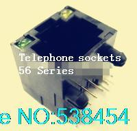 Wholesale RJ45 network jack female LED plastic horizontal curved plug LIGHT order