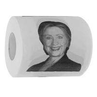 Wholesale 1 Roll Hillary Clinton Potrait Toilet Paper Bundle Gag Gift Bathroom Tissue