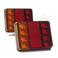 Wholesale 1 Pair Car Waterproof LED Tail Light Rear Lamps Pair Boat Trailer Submersible V Rear Parts for Trailer Truck Boat