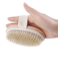 Wholesale Hot Dry Skin Body Natural Bristle Brush Soft SPA Brush Bath Massager Home Worldwide Store
