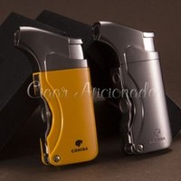 Wholesale COHIBA Brand New High Quality Pocket Size Cigar Lighter with Cigar Punch