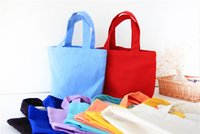 advertising candy - Cotton Shopping Bag Eco friendly Resuable Handbag Advertising Gift Bag Candy Color Grocery Tote Bags