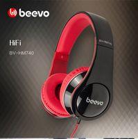 Wholesale High quality BEEVO BV HM740 mm unit HIFI headphones super bass headband headset with mic for iPhone xiaomi redmi samsung mp3