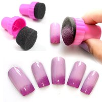 Wholesale New Set DIY Nail Art Sponge Stamping Stamper Changeable Sponges Shade Kit Nail Salon Design