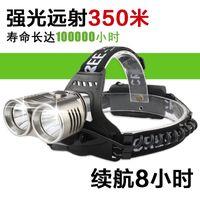 Wholesale LED flashlight headlights light lamp Skyfire white night hunting fishing searchlight long range charge