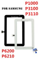 Wholesale For Samsung Galaxy Tab P3100 P3110 Touch Screen digitizer Glass Lens with tape logo Replacement Parts Black White Free DHL