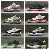 Wholesale Hot Sale Retro Low Basketball Metallic Gold Basketball Shoes Cheap S Bred Infare White Red Concord Nightshade Georgetown Shoes US5