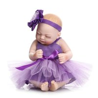 Wholesale Small Reborn Doll Handmade Real Looking Vinyl Newborn Baby Dolls realistic princess baby doll Inch