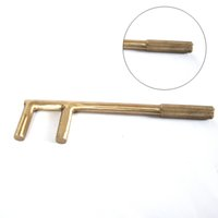 aluminum bronze valves - 40 mm Non sparking Aluminum bronze Alloy Valve Handle Wrench explosion proof F Wrench Safety Spanner Tool
